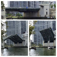 Photo taken at Brickell Ave Bridge by Norman E. on 4/18/2013