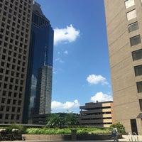 Photo taken at Hyatt Regency Houston Rooftop Pool by Cihan T. on 9/18/2016