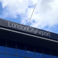 Photo taken at London City Airport (LCY) by Jon T. on 9/19/2012