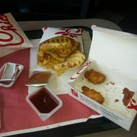Photo taken at Chick-fil-A Hanes Mall Boulevard by Rachel M. on 8/2/2013