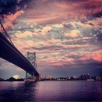 Photo taken at Benjamin Franklin Bridge by Denis G. on 8/24/2013