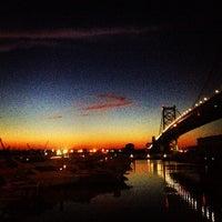 Photo taken at Benjamin Franklin Bridge by Denis G. on 9/5/2013