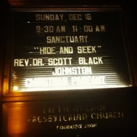 Photo taken at Fifth Avenue Presbyterian Church by Chauncey D. on 12/17/2012