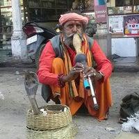 Photo taken at Dasaswamedh Ghat by Vivian L. on 2/22/2013