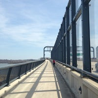 Photo taken at Woodrow Wilson Bridge Pedestrian Trail by Peter L. on 4/7/2013
