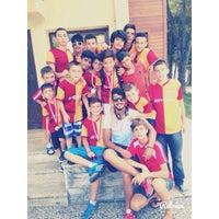 Photo taken at Galatasaray Futbol Okulu by Ahmet Özbek on 11/16/2014