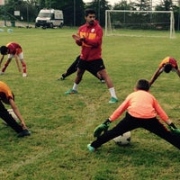 Photo taken at Galatasaray Futbol Okulu by Ahmet Özbek on 9/5/2015