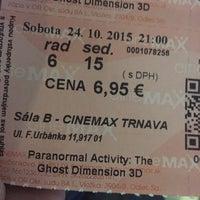 Photo taken at Cinemax by Kristie K. on 10/24/2015