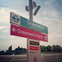 Photo taken at Greenwich DLR Station by Nuea C. on 4/10/2013