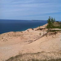 Photo taken at Dune Climb - Sleeping Bear Dunes by Katie on 5/26/2013