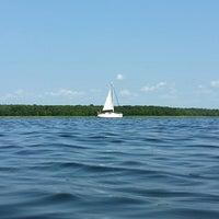 Photo taken at Пляж Прибой by Anton K. on 8/2/2014