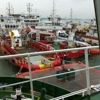 Photo taken at Loyang Offshore Supply Base Jetty by Oleksandr L. on 4/6/2014