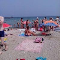 Photo taken at Пляж «Песочный» / Pesochniy Beach by Kolyan D. on 8/12/2013