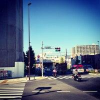 Photo taken at Senjuōhashi Station (KS05) by ロンゴロンゴ on 9/19/2013