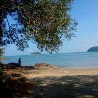 Photo taken at Fishing Bay Resort, Mersing by Najiha S. on 11/1/2014