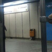 Photo taken at Al Shohadaa Metro Station by Mohammed A. on 9/4/2013