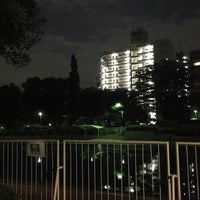 Photo taken at 目黒区民センター 屋外プール by Geko G. on 9/15/2016