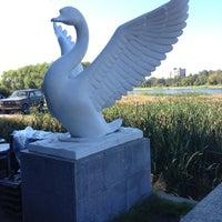 Photo taken at Памятник Лебедь 290 лет Колпино by Dmitry R. on 9/7/2013