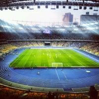 Photo taken at Olimpiyskiy Stadium by Kseniya T. on 7/29/2013
