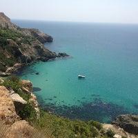 Photo taken at Пляж Фиолент by Roman K. on 8/19/2013