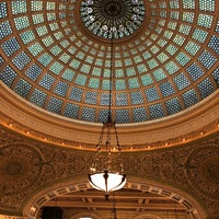 Photo taken at Tiffany Dome At The Chicago Cultural Center by Lucille F. on 1/2/2018