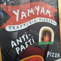 Photo taken at YamYam Trattoria Pizzeria by Willa S. on 6/18/2013