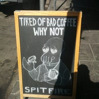 Photo taken at Spitfire Coffee by Tim J. on 10/15/2013