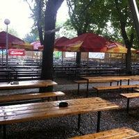 Photo taken at Zahrádky a restaurace Riegrovy sady – Park Café by Miguel L. on 10/7/2013