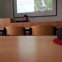 Photo taken at Fakulta tělesné výchovy a sportu by Mára P. on 12/12/2013