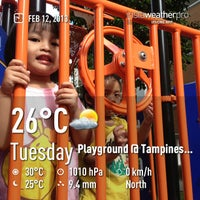 Photo taken at Playground @ Tampines Blk 869 by ilovesecretagents on 2/12/2013