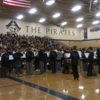 Photo taken at Bayport Gymnasium by James S. on 10/22/2013