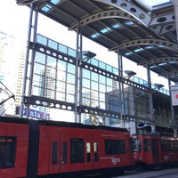 Photo taken at America Plaza Trolley Station by Chen F. on 10/8/2016