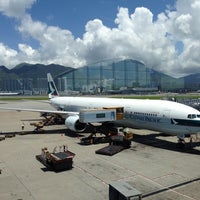Photo taken at Hong Kong International Airport (HKG) by Benedict U. on 7/3/2013