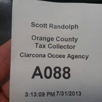 Photo taken at Orange County Tax Collector - Clarcona location by Al C. on 7/31/2013