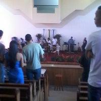 Photo taken at Igreja Batista Nova Filadélfia - Rocha Miranda by Lucas G. on 8/4/2013
