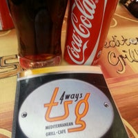 Photo taken at T.S.G. Mediterranean Grill & Cafe by Patrick D. on 9/8/2013