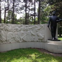 Photo taken at Carl Michael Ziehrer statue by Cesar P. on 5/8/2013