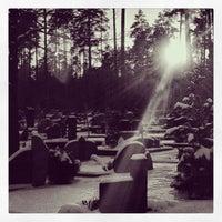 Photo taken at Kairėnų kapinės by Neringa G. on 1/18/2014