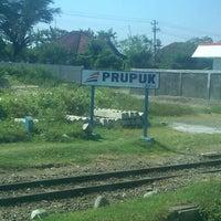 Photo taken at Stasiun Prupuk by Akhmad Fauzan N. on 8/1/2013