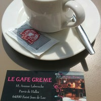 Photo taken at Café crème by Gael O. on 8/2/2014