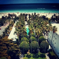 Photo taken at Delano South Beach by Omid A. on 5/18/2013
