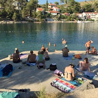 Photo taken at Bobovišća beach by liberalia . on 7/27/2015