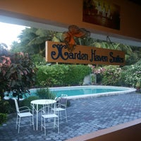 Photo taken at Garden Haven Suites by Cynthia on 5/17/2014