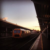 Photo taken at Bangor Bus & Train Station by Nico F. on 9/21/2013