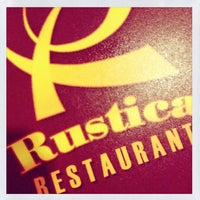 Photo taken at Rustica Restaurant by Jelo V. on 1/31/2013