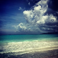 Photo taken at Emerald Bay Beach At Sandals by Edward L. on 8/5/2013