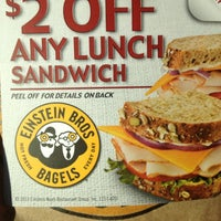 Photo taken at Einstein Bros Bagels by Jacqui on 5/1/2013