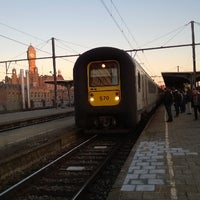 Photo taken at Trein Gent > Oostende by Rietje D. on 12/11/2013