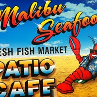 Photo taken at Malibu Seafood Fresh Fish Market & Patio Cafe by Brenda E. on 10/18/2012