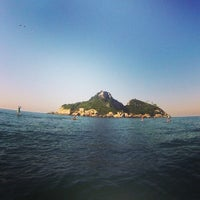 Photo taken at Ilha Pontuda by Paula D. on 2/1/2014
